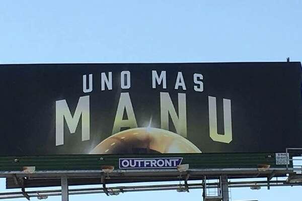 3ae2c2716fda Uno Mas Manu  billboard goes up to honor one of San Antonio s most ...