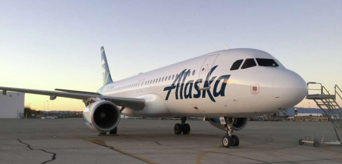 Virgin America's Airbus A320 family aircraft will soon all be painted in Alaska Airlines colors