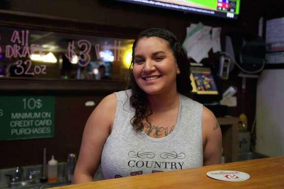 Jennifer Banda is working the bar at The Hidden Treehouse.