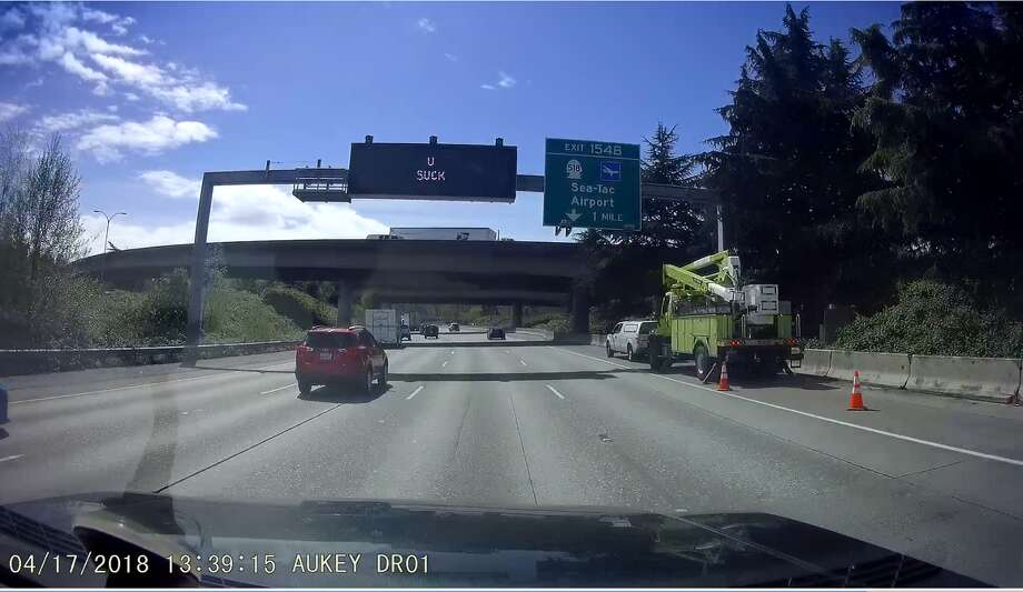 """This was an inappropriate message and we're sorry. This was due to a training error and clearly a mistake. We are taking steps to ensure this doesn't happen again."" - WSDOT Humorous message aside, click through to see how Washington drivers can, sometimes, suck. Photo: BruceInc"
