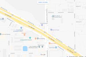 FILE - A screenshot of a Google Maps image of North Fairbanks Houston Road and the Northwest Freeway in Houston, Texas. Wednesday, a dump truck rear-ended a Navasota ISD bus and caused that bus to hit another in front.