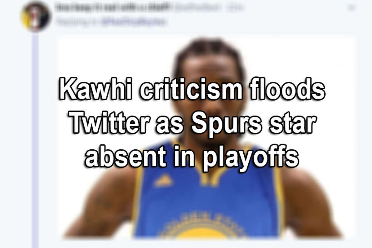 The relationship between some San Antonio Spurs fans and superstar forward Kawhi Leonard may need counseling. By halftime of Game 1 of the Spurs-Warriors series, Twitter was aflame with angry posts. Click ahead to see reactions.