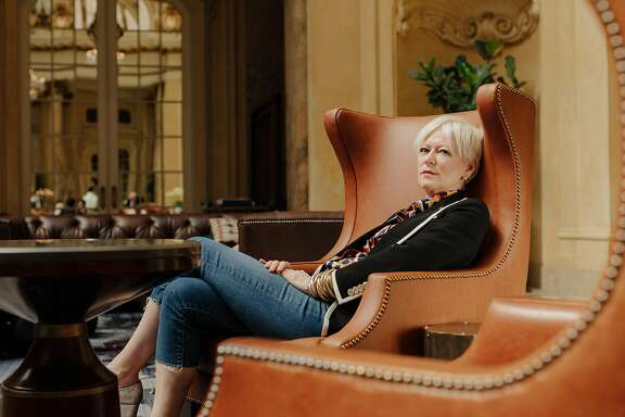 """Joanna Coles, author of """"Love Rules,"""" and Chief Content Officer for Hearst Magazines, in the Palm Court of the Palace Hotel in San Francisco, California, on April 17th, 2018."""