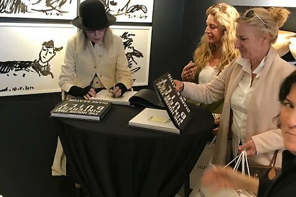 Diane Keaton talks with some fans at book event at Hudson/Grace