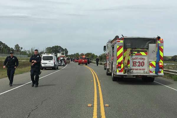 One person died in a multi-vehicle crash near Doolittle Drive and Langley Street in Oakland, according to the Alameda County Sheriff's Office.