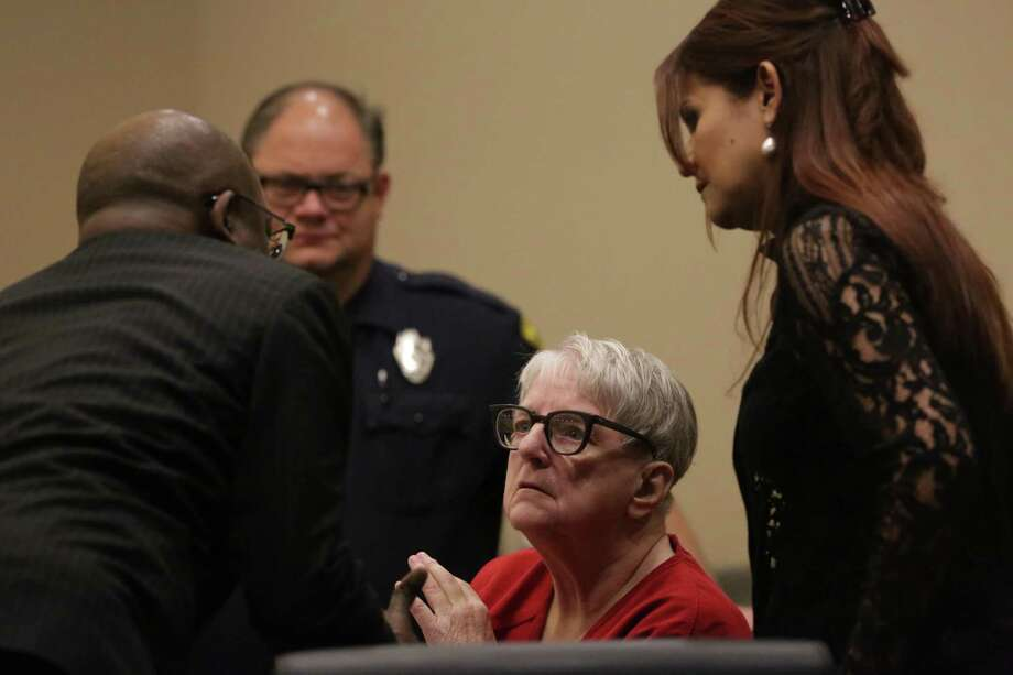 Convicted baby killer Genene Jones appears in court Wednesday morning at a hearing for a speedy trial. Jones was indicted last year, accused in the deaths of five Bexar County babies during the same period in the 1980s when she was convicted of killing Chelsea McClellan with an overdose of muscle relaxers. Her trial is set for July, but attorneys are seeking to try her earlier, and likely before Bexar County District Attorney Nico LaHood leaves office. The hearing was held in the 399th state District Court, presided by Judge Frank Castro 1st Floor, Cadena-Reeves Justice Center on Wednesday, April 18, 2018. Photo: Bob Owen, Staff / San Antonio Express-News / San Antonio Express-News