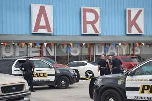 San Antonio police responded to the shooting around 1:15 p.m. at the Market Center in the 3900 block of Eisenhauer Road on Wednesday, April 18, 2018.