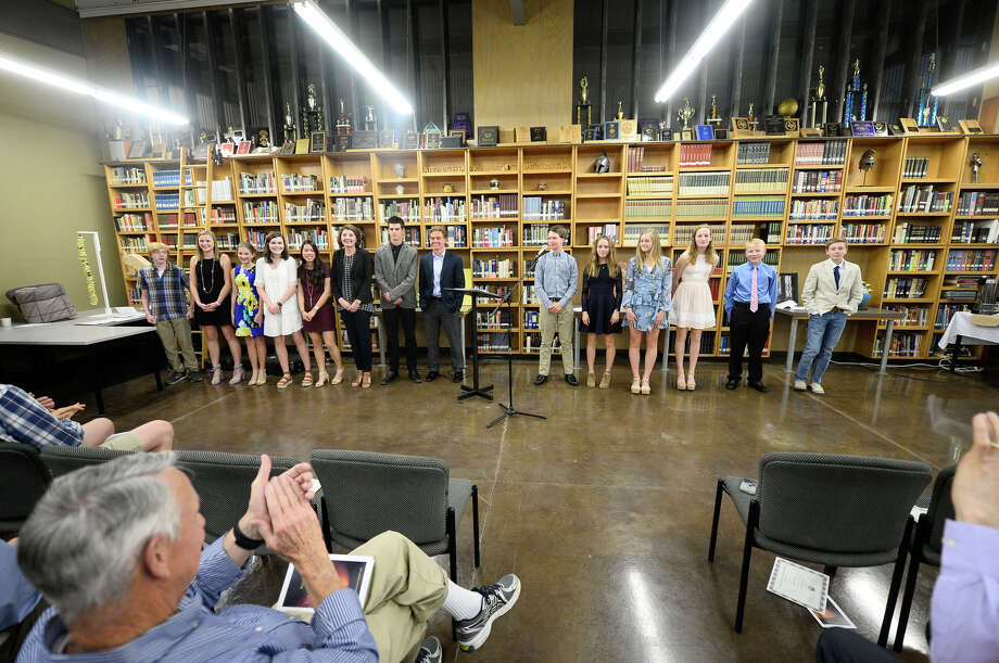 Midland Classical students are recognized for their Mastery with Honors projects April 17, 2018, at MCA. James Durbin/Reporter-Telegram Photo: James Durbin