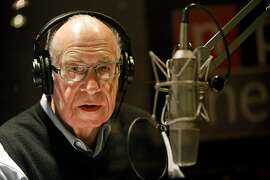 """FILE - APRIL 17, 2018: It has been reported that NPR newscaster Carl Kasell, best known for his work on NPR's """"Morning Edition"""" and """"Wait Wait...Don't Tell Me"""" in a career spanning decades, has died at the age of 84. WASHINGTON - DECEMBER 30:  National Public Radio's Carl Kasell delivers one of his last newscasts during the Morning Edition program at NPR December 30, 2009 in Washington, DC. A newscaster with NPR for 30 years, Kasell will take up the duty of roving ambassador for the network and continue his work on the game show Wait, Wait... Don't Tell Me!  (Photo by Chip Somodevilla/Getty Images)"""