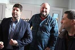 The Middlesex County Chamber of Commerce recently held a grand opening ceremony for Spoke + Spy Ciderworks. From left are Middletown Mayor Dan Drew, Ronald Sanson, co-owner; and Middlesex County Chamber Chairman Rick Morin.