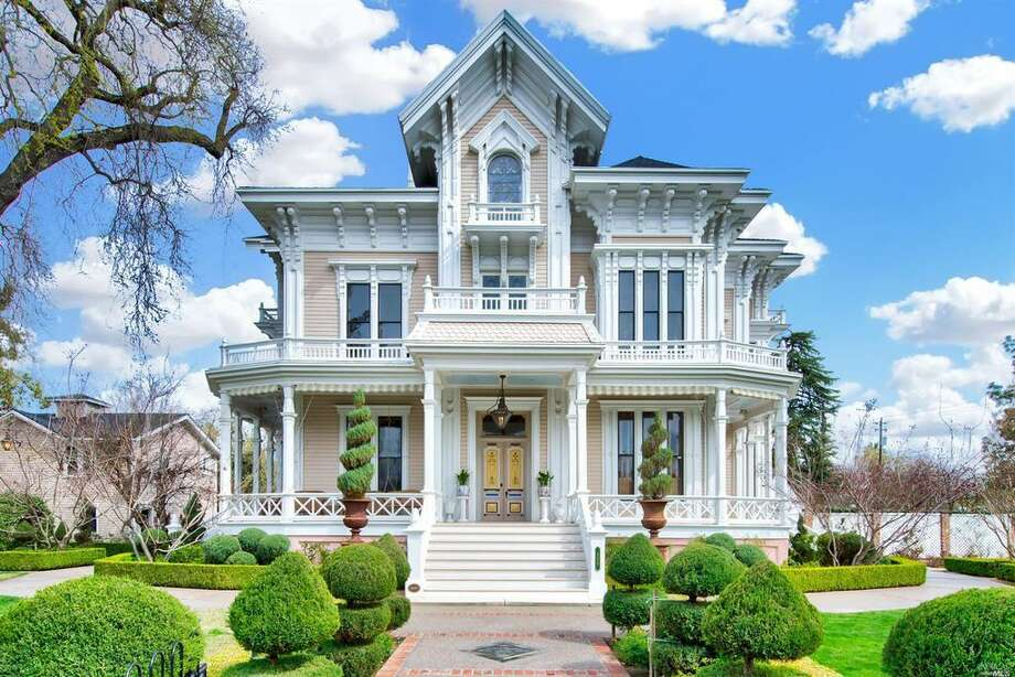 The Gable Mansion, a California Historical Landmark in Woodland, is listed for $3.85 million. The six-bedroom Victorian has been beautifully preserved and modernized over the years. It was originally built in 1885. Photo: Znap Fly