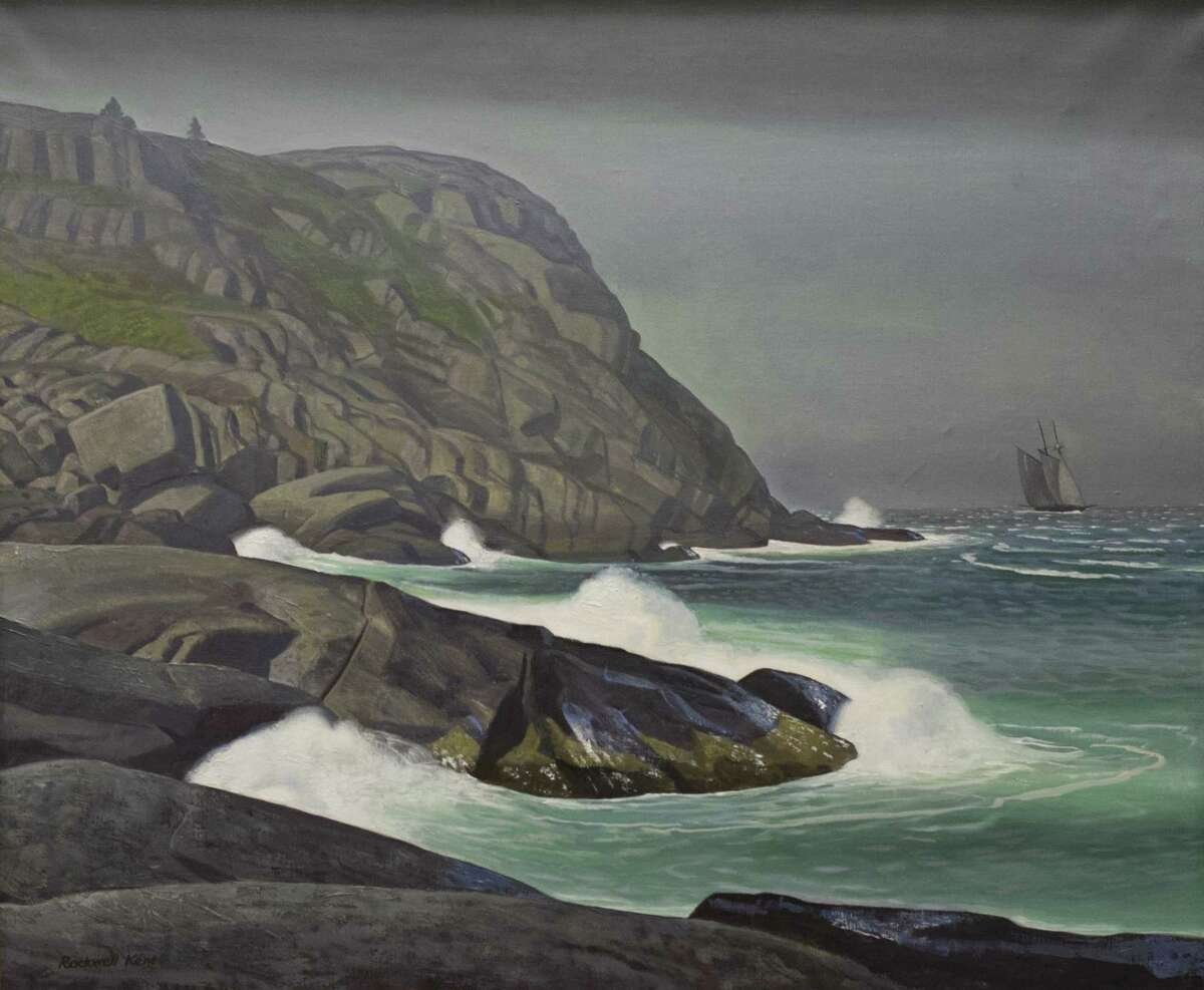 Rockwell Kent (American, 1882-1971), Blackhead, Monhegan, ca. 1950, oil , 28 1/4 x 34 in. Plattsburgh State Art Museum, State University of New York, Bequest of Sally Kent Gorton. (78.1.4) (Provided, Hyde Collection)
