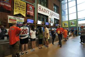 St. Arnold's Bar, in Section 104, at Minute Maid Park.