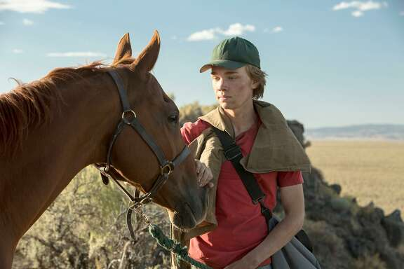 "Charlie Plummer plays a 16-year-old who steals a broken-down racehorse in ""Lean on Pete."""