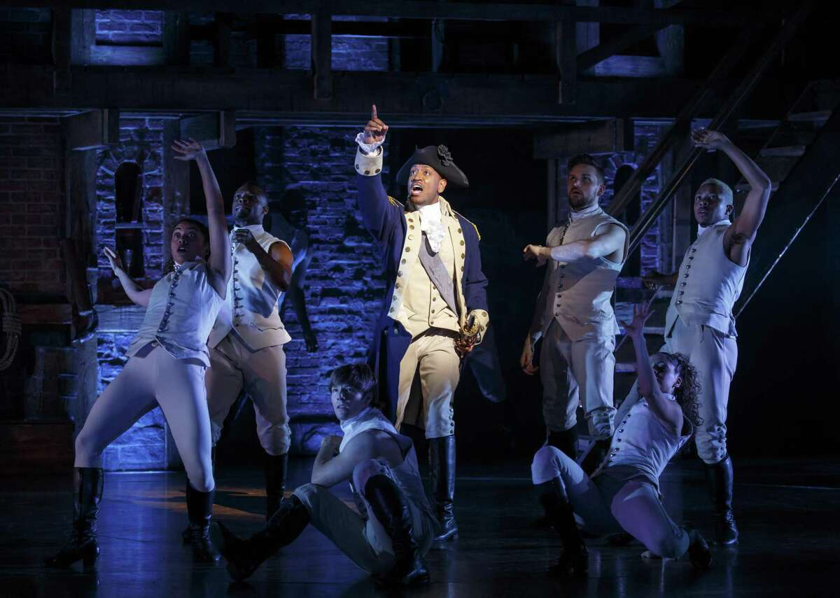 """A scene from """"Hamilton"""" on Broadway with Bryan Terrell Clark."""