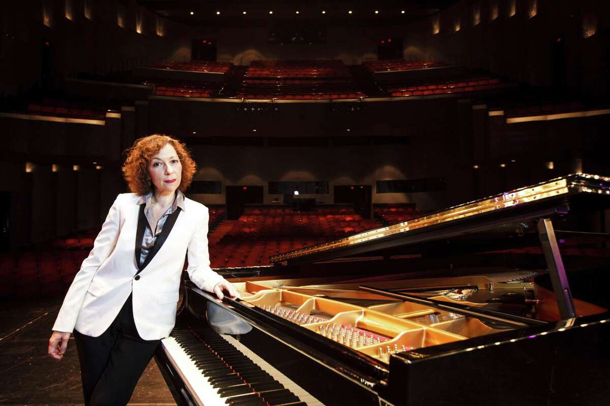 Sarah Rothenberg, pianist and artistic director of Da Camera, poses for a portrait at the Wortham Theater Center, Tuesday, Sept. 18, 2012, in Houston.