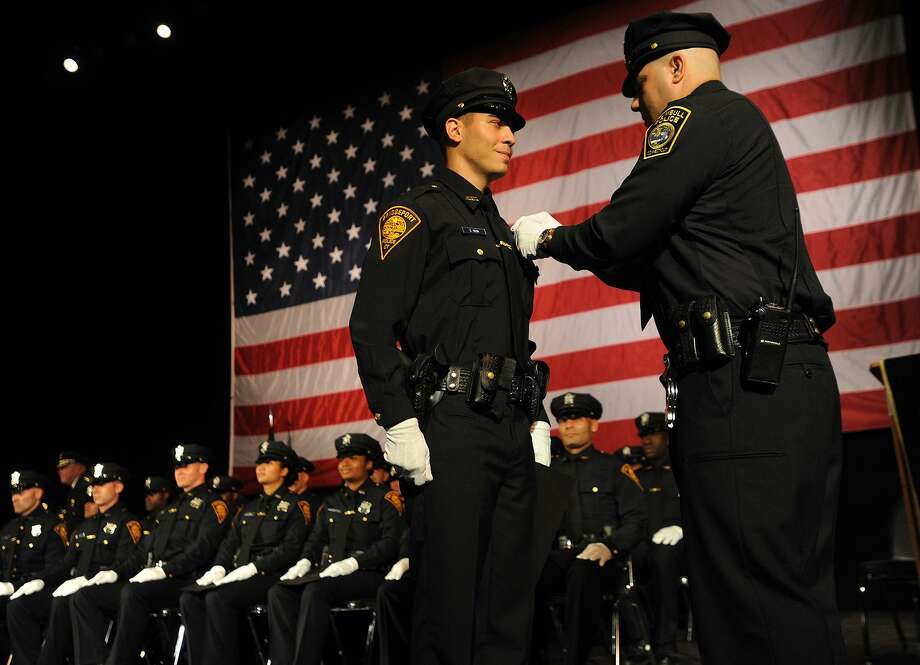 The Bridgeport Police Academy's swearing in ceremony at the Klein Memorial Auditorium in Bridgeport, Conn. on Monday, September 19, 2016. Photo: Brian A. Pounds / Hearst Connecticut Media / Connecticut Post