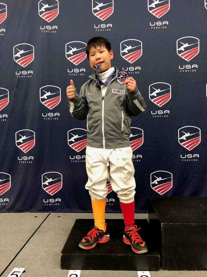 Shaun Kim of Greenwich placed third in the saber event USA Fencing's North American Cup recently in Baltimore, Md. Photo: Contributed Photo