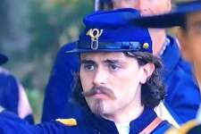"""Andrew James Bleidner, who grew up in Southbury, appeared on the Fox News docu-series """"Legends and Lies"""" as Robert Gould Shaw, who commanded the 54th Massachusetts regiment, the first all-black regiment during the Civil War. Bleidner first appeared in the series Sunday, April 15."""