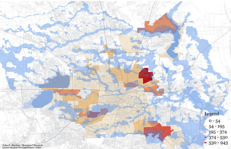 Mapped: In one Houston community, 80 percent of high-water rescue ...