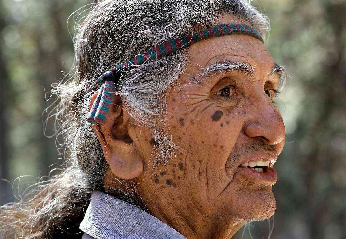 Bill Tucker, a member of the Miwuk tribe of Native American Indians who continue their quest of rebuilding the small village of their ancestors known as Wahhoga Village, on the valley floor of Yosemite National Park.