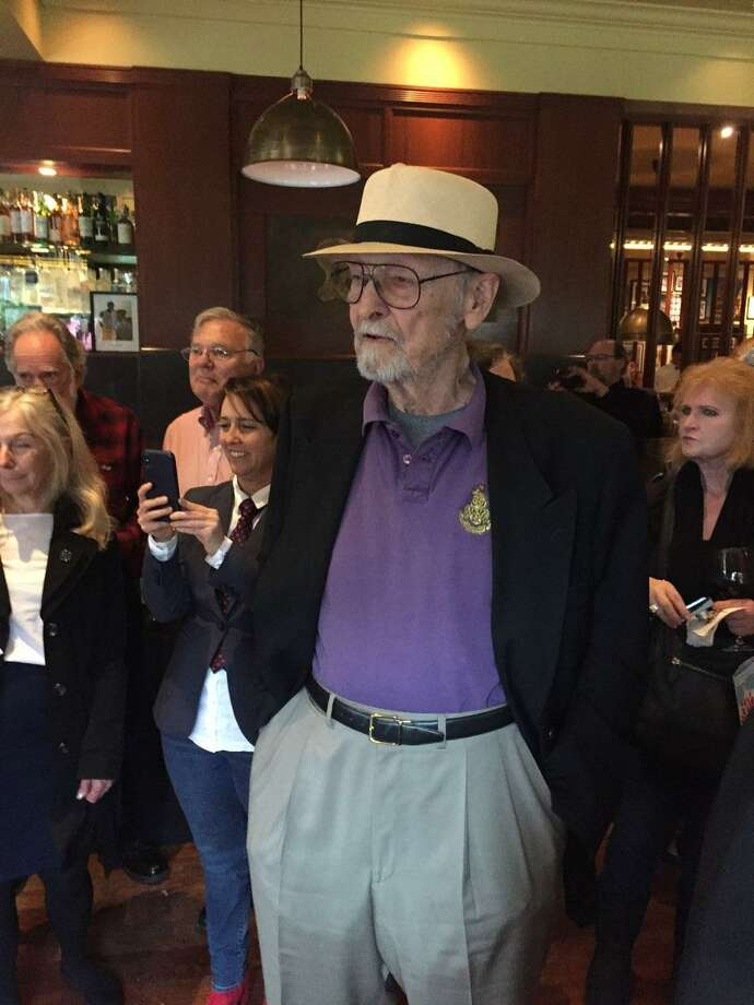 Ernest Beyl at his 90th birthday and book signing party on April 11, 2018. Photo: / The Marina Times