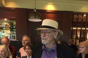 Ernest Beyl at his 90th birthday and book signing party on April 11, 2018.