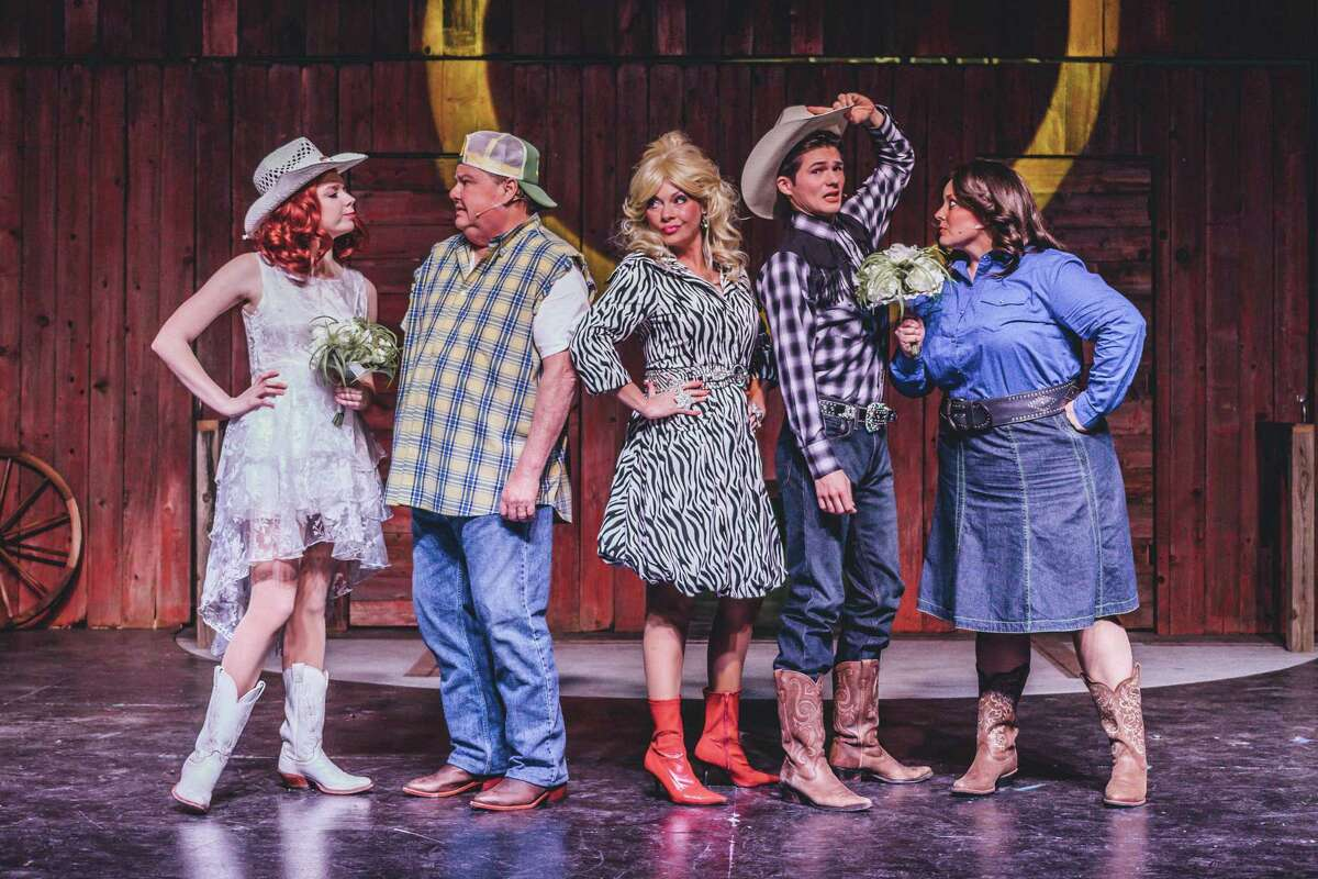 Deer Park Art Park Players' production of ?'Das Barbecü?' features six actors in 36 roles.