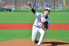Brien McMahon's Korey Morton on the mound against Darien in Wednesday's game.