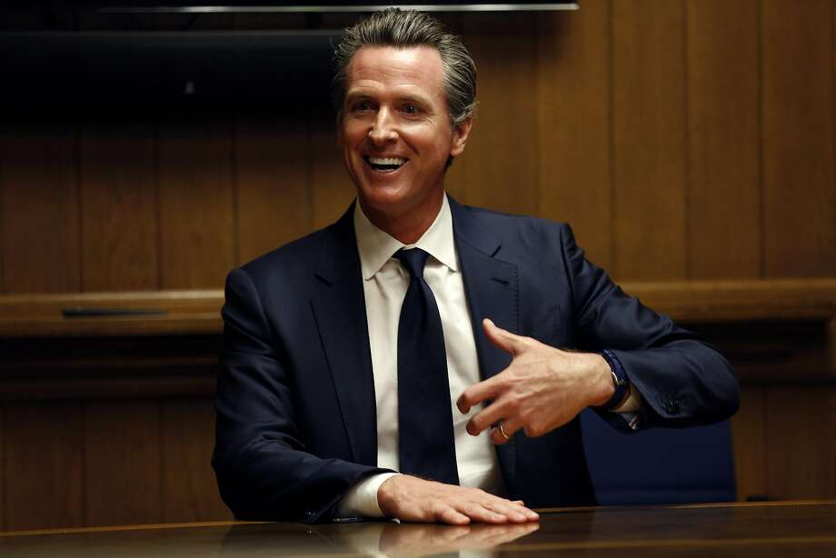 Lt. Gov. Gavin Newsom is interviewed by The Chronicle editorial board on Wednesday. Photo: Santiago Mejia / The Chronicle