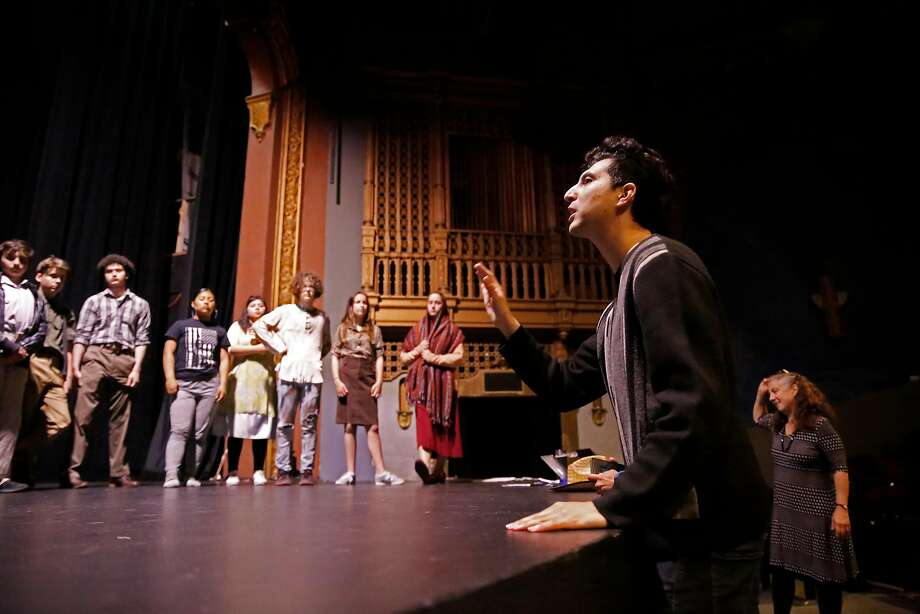 Director Marcelo Pereira talks with his young cast, above.  Photo: Michael Macor / The Chronicle