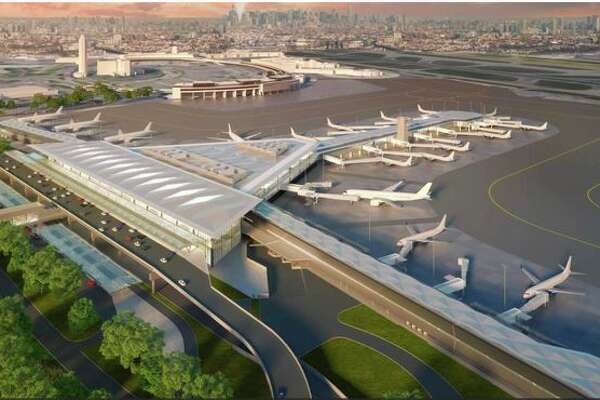 What Newark's Terminal A will look like after it is remade into Terminal 1.