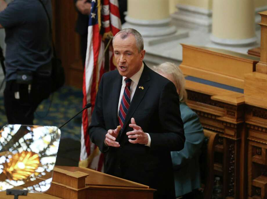 New Jersey Gov. Phil Murphy addresses a March 13 gathering as he unveils his 2019 budget in the Assembly chamber of the Statehouse in Trenton, N.J. Lawmakers are beginning their scrutiny of Murphy's $37.4 billion budget proposal. The Democrat-led Assembly and Senate budget committees opened the season-long budget process with public hearings on the Democratic governor's first budget. Photo: Mel Evans, FRE / Associated Press / FR171525 AP