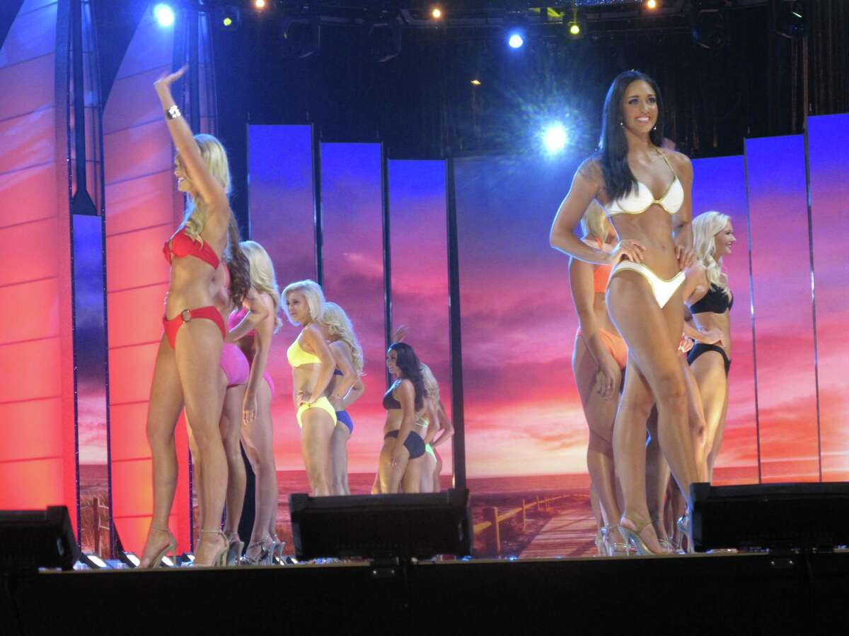 Contestants compete in the swimsuit portion of the Miss America competition on Sept. 8, 2015 in Atlantic City, N.J.