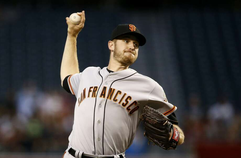 Giants starting pitcher Chris Stratton ranks ninth in the National League this season with a 2.32 ERA. Photo: Ross D. Franklin / Associated Press