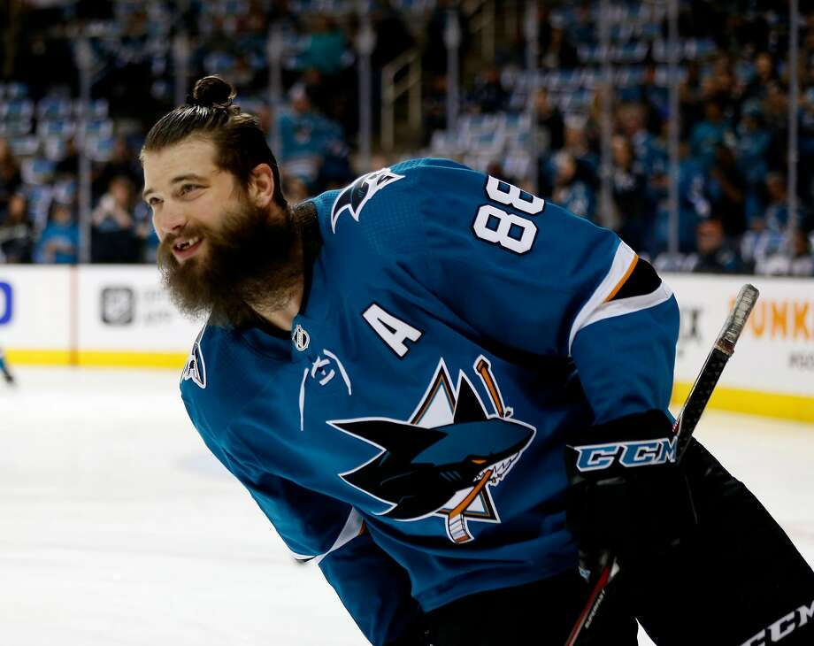 San Jose Sharks' Brent Burns (88) skates on the ice during warmups before game against Anaheim Ducks in Game 4 of an NHL first round playoff series on Wednesday, April 18, 2018 at the SAP Center in San Jose, California. Photo: Josie Lepe / Special To The Chronicle