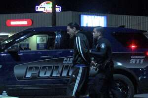 Officers tried to stop the driver around 1:45 a.m. near Jackson Keller Road and Loop 410, but the driver didn't pull over and a chase was initiated.