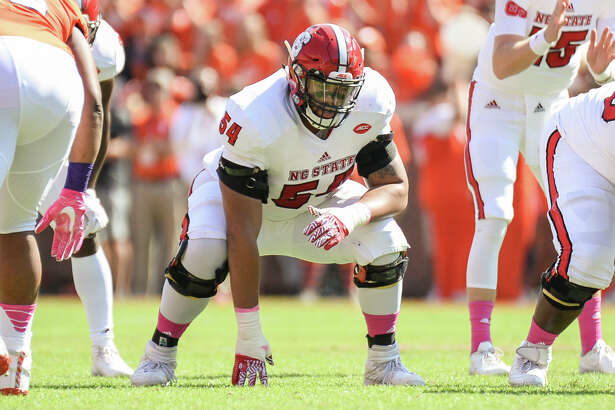 October 15, 2016: NC States offensive lineman Will Richardson during 1st half action between the Clemson Tigers and the NC State Wolfpack at Memorial Stadium in Clemson, SC. (Photo by Doug Buffington/ Icon Sportswire).