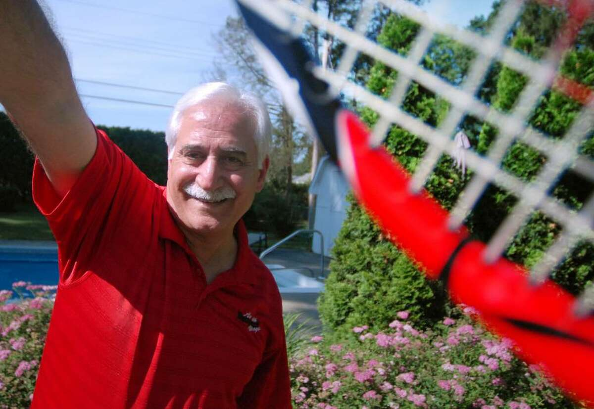 Rich Johns, who is retiring after 37 years coaching tennis at Saratoga Springs High School, was an outstanding player himself, both at SUNY Potsdam and in tournaments throughout the Capital Region. (Kayla Galway / Times Union)