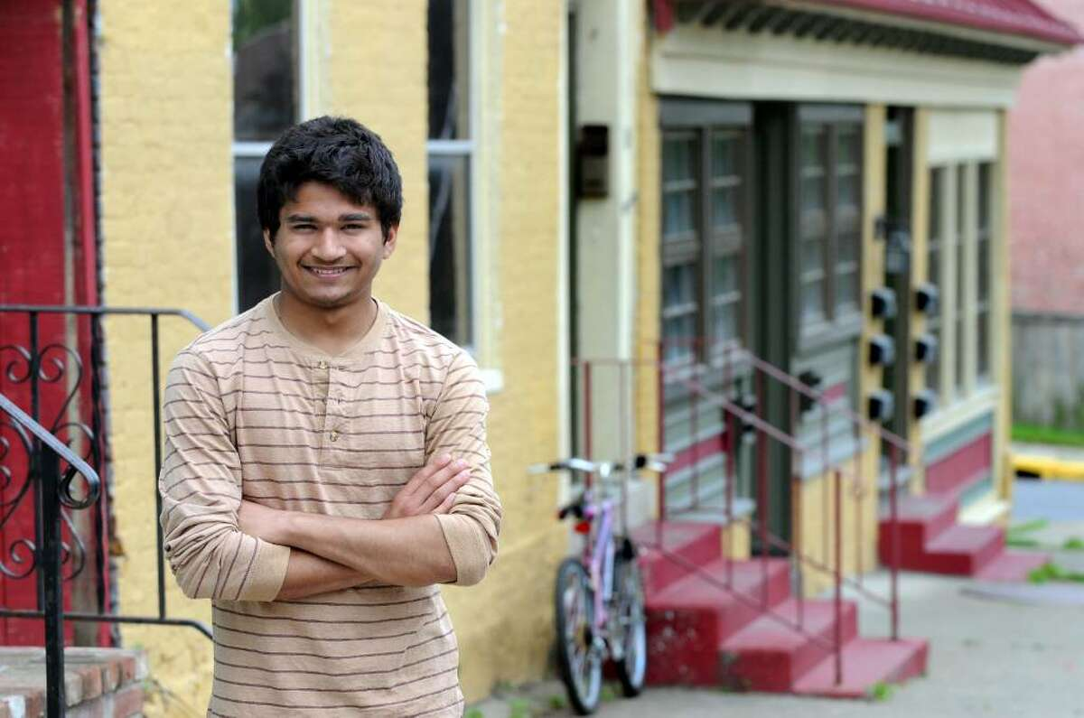 Mohammed Ariful Ghani, 17, who moved to the United States from Bangladesh four years ago, will be Hudson High School's 2010 valedictorian. (Cindy Schultz / Times Union)