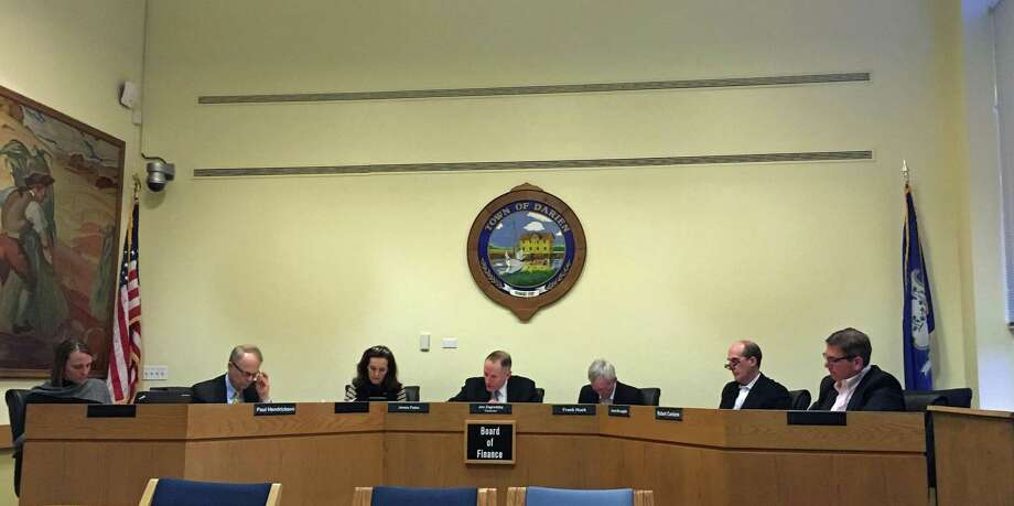 The Board of Finance voted to approve the town and education budgets on March 16, 2018. Photo: Humberto J. Rocha / Hearst Connecticut Media / Darien News