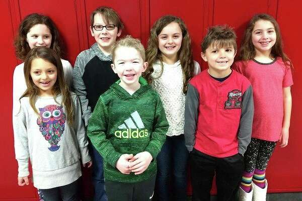 Caseville Elementary School recently announced its students of the month for March. Those students include Ryan Bond, fifth grade; Bella Putman, fourth grade; Amariah Fritz, third grade; Dominic Cardillo, second grade; Mia Yeager, second grade; Landon Walsh, first grade; and Nova Putman, kindergarten. (Submitted Photo)