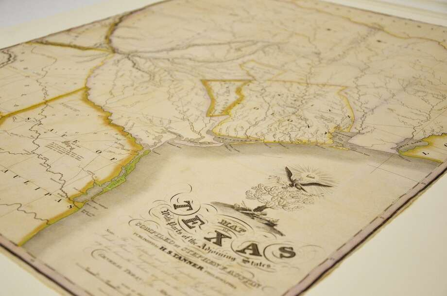 The Texas A&M University Libraries recently acquired a rare first edition of Stephen F. Austin's own map of Texas first produced in 1830. According to officials at the school it is one of eight known to be in existence. Photo: Texas A&M University