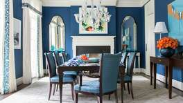 The combination of blue and white is classic, but is especially popular in interior design right now.
