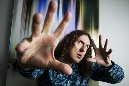 """Weird Al Yankovic in New York, May 17, 2016. Accustomed to a career mix of recognition and indifference, the musical comedian says he's eager to give IFC's """"Comedy Bang! Bang!"""", his first steady television gig in nearly 20 years, a whirl. (Todd Heisler/The New York Times)"""
