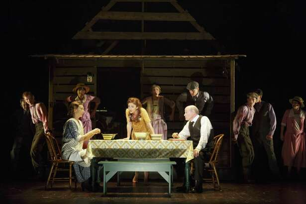 """A dinner scene from the musical """"Bright Star."""""""