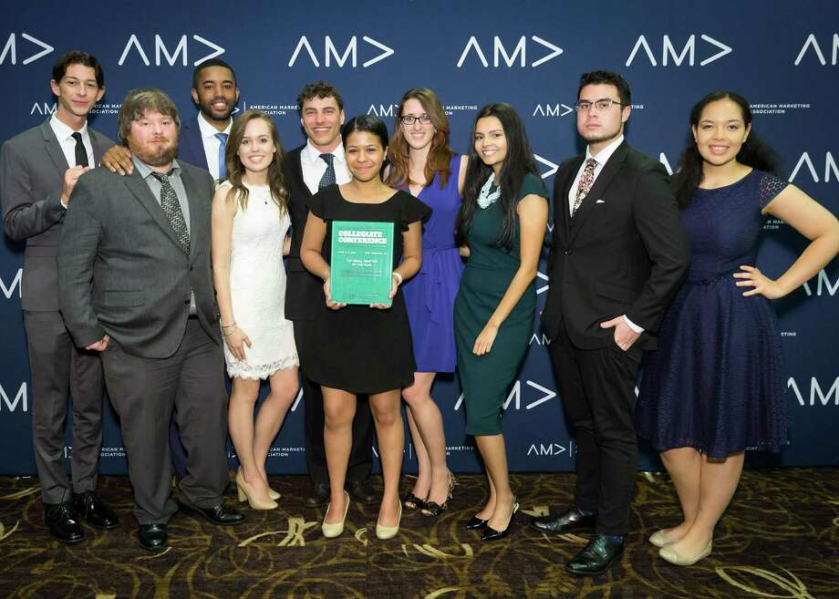 Ten WCSU students represented the Western Marketing Association at the American Marketing Association International Collegiate Conference in New Orleans earlier this month. Photo: Submitted Photo / ©Pierce Harman Photography