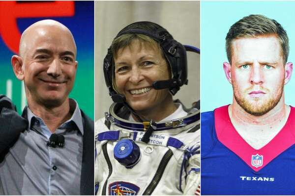 Amazon head Jeff Bezos, astronaut Peggy Whitson, and Texans star J.J. Watt are on the TIME list of the most influential people on the planet, released this week.