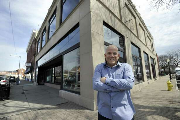 Manny Carreras is hoping to make his building at 40 White Street into a restaurant with self-pour technology. Photo Friday, April 13, 2018.