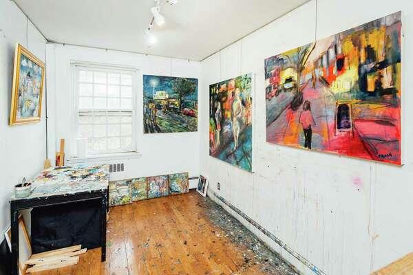 Bruce Horan's Studio inside the St. Philip Artist Guild, and old brick mansion in Norwalk.